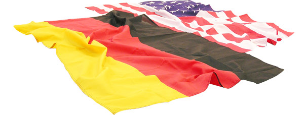 German Flag & USA Flag